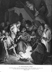 St. Peter Denying Christ (Public Domain)
